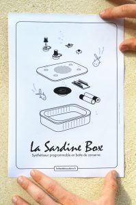 synth sardinebox , Schéma éclaté de la sardinebox